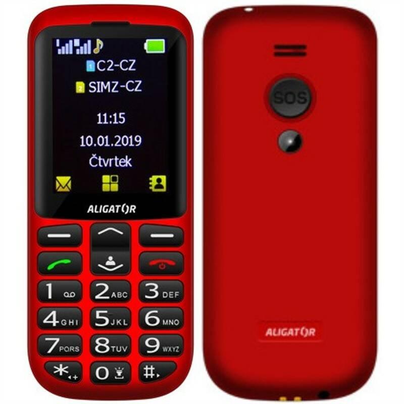 Mobilný telefón Aligator A700 Senior Dual SIM (A700R) červený