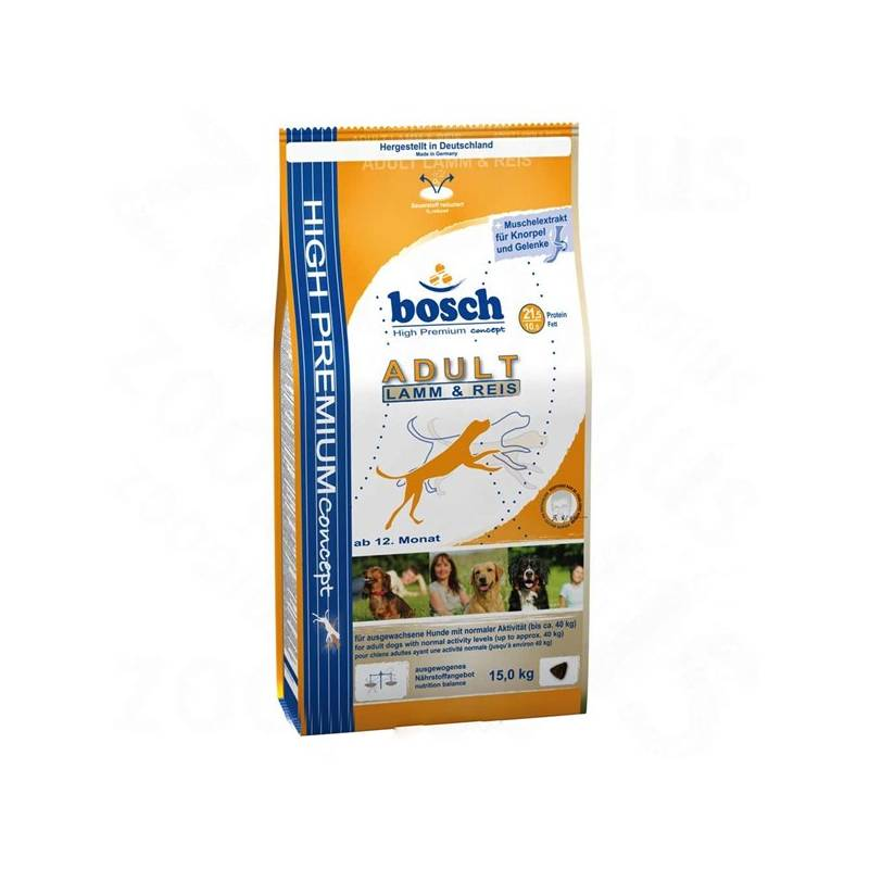 Granule Bosch Adult Lamb & Rice 15 kg