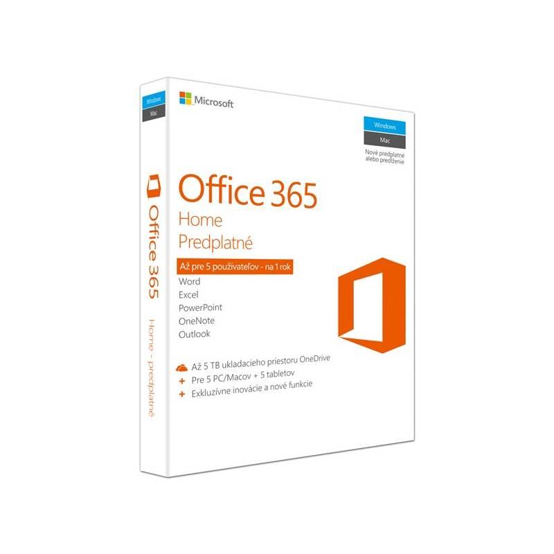 Software Microsoft Office 365 Home SK (6GQ-00769) + Doprava zadarmo