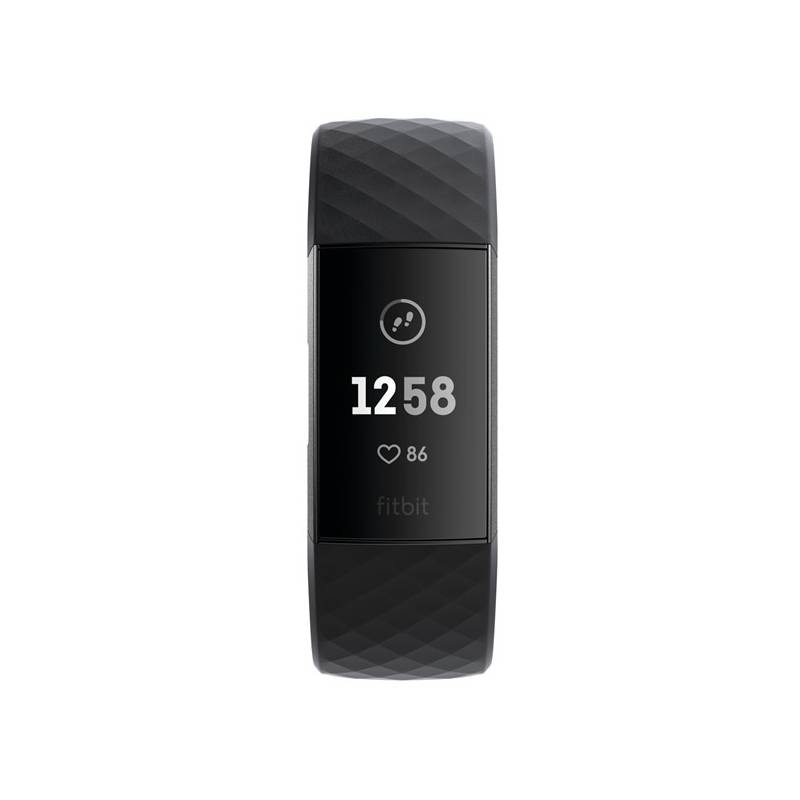 Fitness náramok Fitbit Charge 3 - Graphite, Black (FB409GMBK-EU)