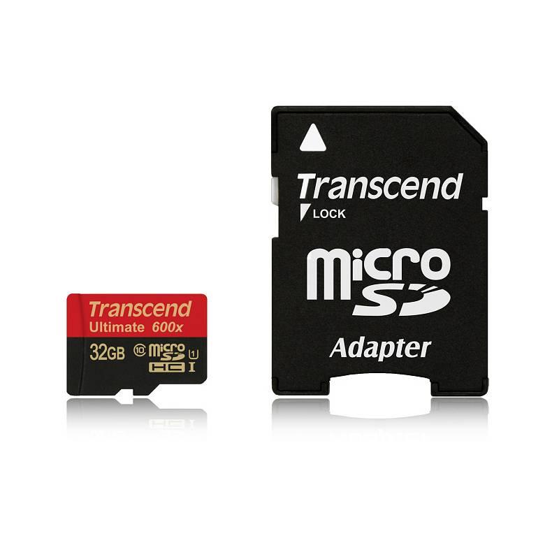 Pamäťová karta Transcend MicroSDHC 32GB UHS-I U1 (90MB/s) + adapter (TS32GUSDHC10U1)