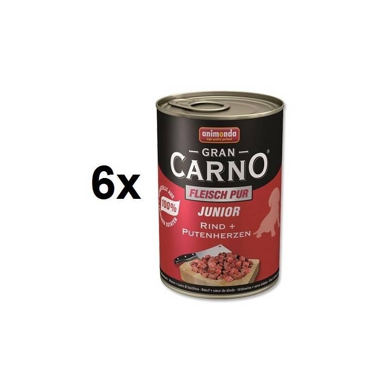 Konzerva Animonda Junior Gran Carno hovädzie + morčacie srdce 6 x 400g