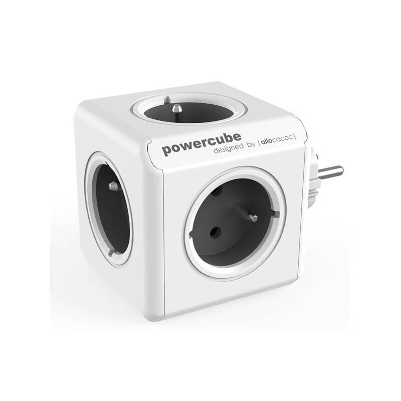 Zásuvka Powercube Original, 5x zásuvka sivá/biela