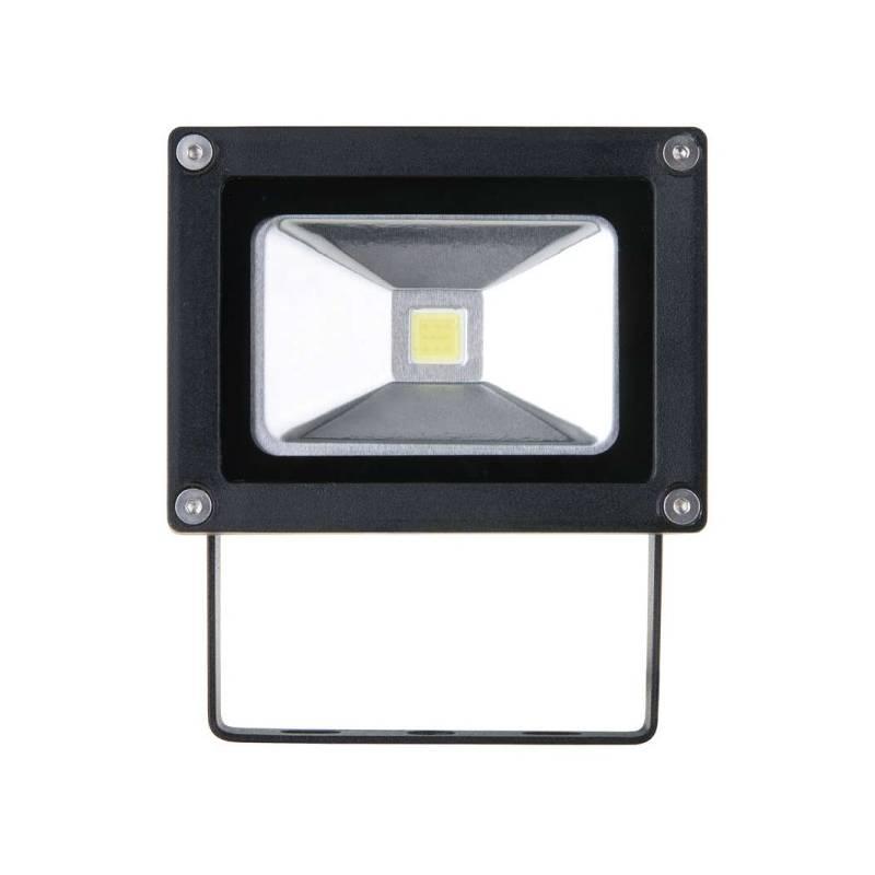 LED reflektor EMOS HOBBY 10W, studená bílá, 650lm (1531221010) čierny