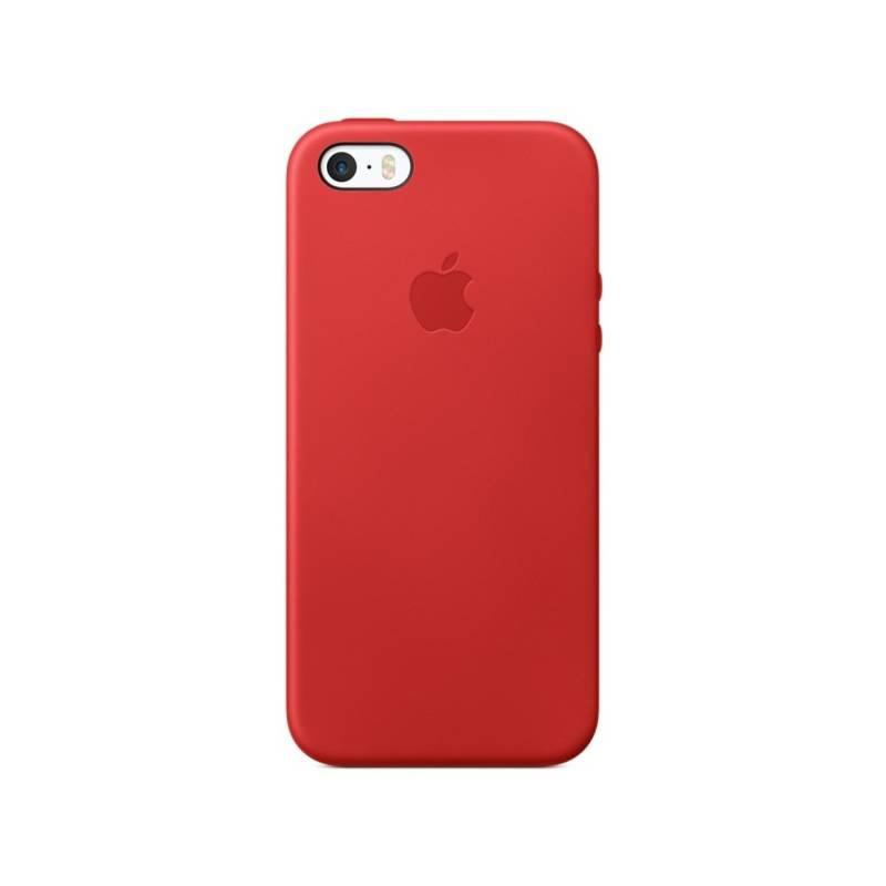 Kryt na mobil Apple Leather Case na iPhone 5/5s/SE (PRODUCT)RED™ (MNYV2ZM/A) červený