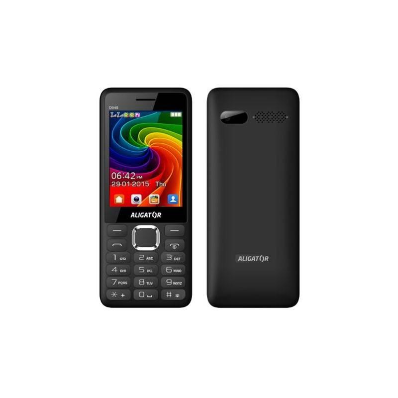 Mobilný telefón Aligator D940 Dual Sim (AD940BG) čierny