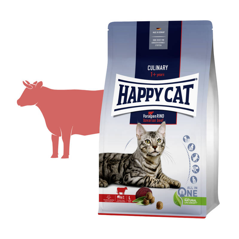 Granuly HAPPY CAT Culinary Voralpen-Rind / Alpské hovädzie 4 kg