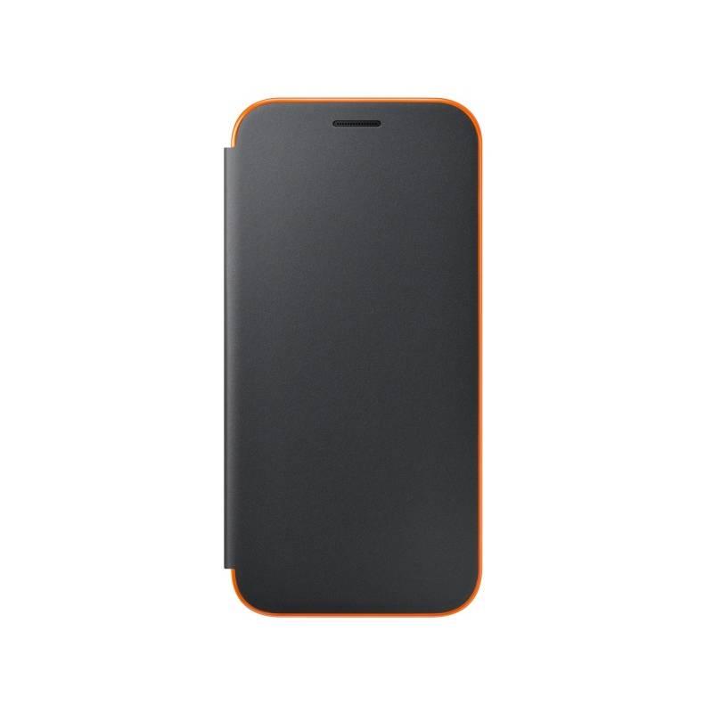 Pouzdro na mobil flipové Samsung Neon flip pro Galaxy A5 2017 (EF-FA520PBEGWW) černé