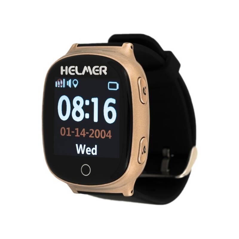 Chytré hodinky Helmer LK 705 dětské s GPS lokátorem (Helmer LK 705) bronzové
