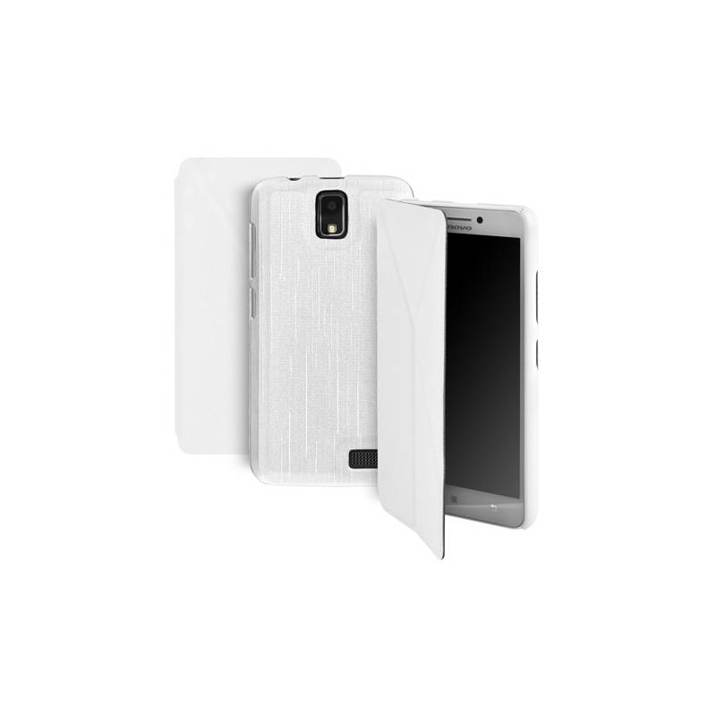 Púzdro na mobil flipové GoGEN pro Lenovo A328 (GOGCASEA328W) biele