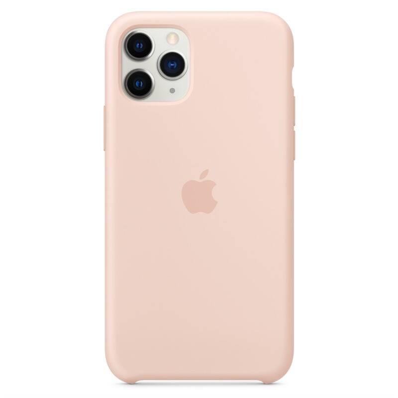 Kryt na mobil Apple Silicone Case pro iPhone 11 Pro - pískově růžový (MWYM2ZM/A)