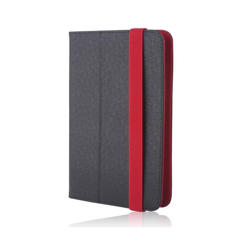 """Púzdro na tablet flipové GreenGo Orbi na tablet 9-10"""" (LCSUNI910OBIRE) čierne/červené"""