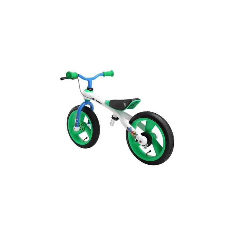 Odrážadlo Jd Bug Training Bike Crazzy Colours biele/modré/zelené + Reflexní sada 2 SportTeam (pásek, přívěsek, samolepky) - zelené v hodnote 2.80 € + Doprava zadarmo