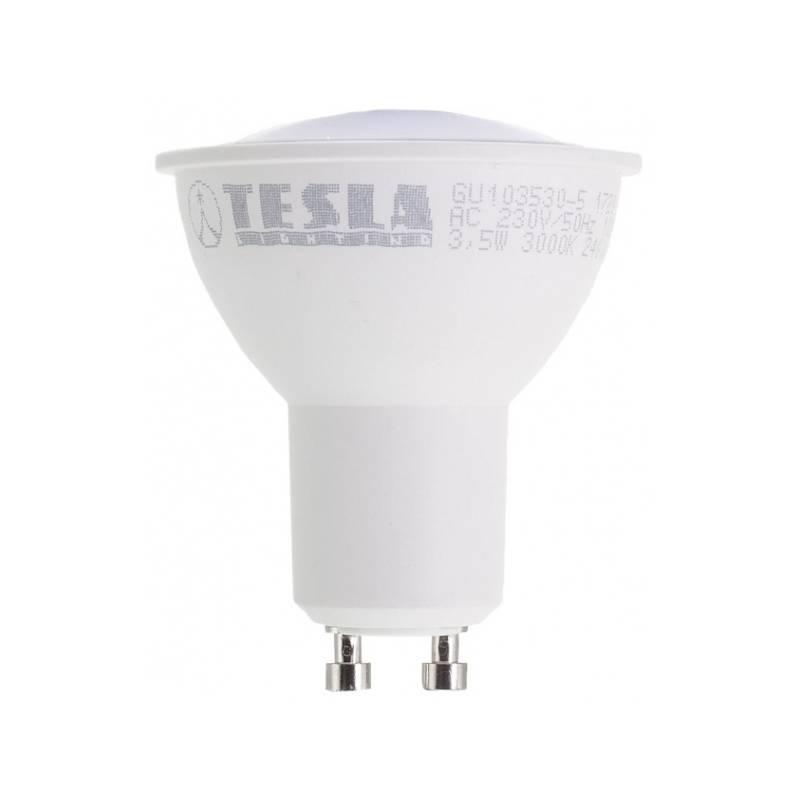 LED žiarovka Tesla bodová, 3,5W, GU10, teplá bílá (GU103530-5)