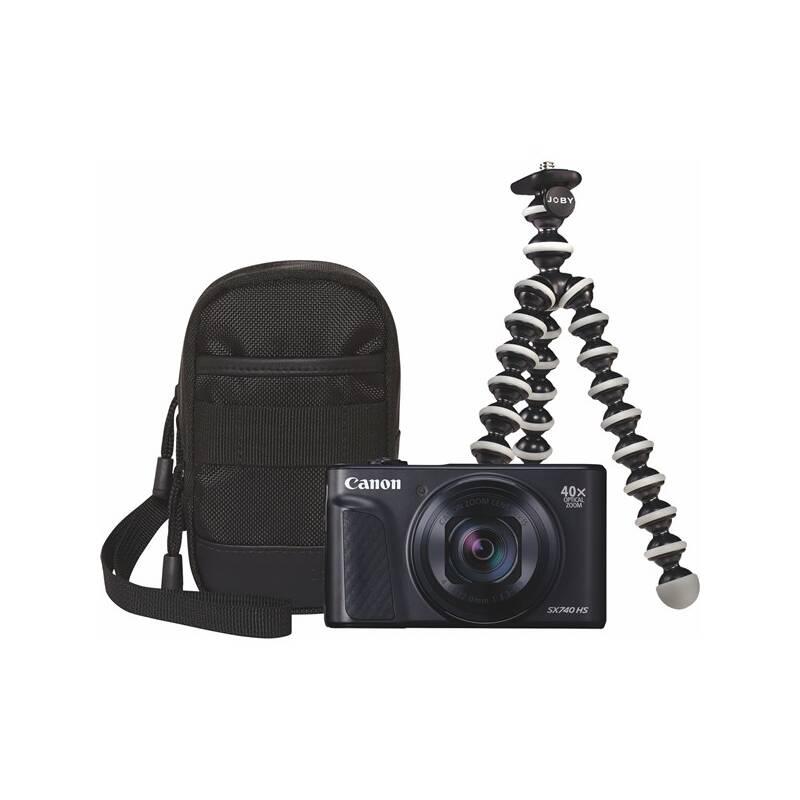 Digitálny fotoaparát Canon PowerShot SX740 HS, TRAVEL KIT (2955C016) čierny