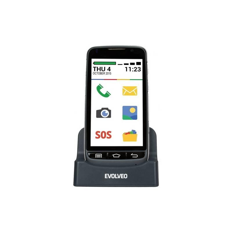 Evolveo EasyPhone D2, Android se snadným ovládáním (EP-D2) černý