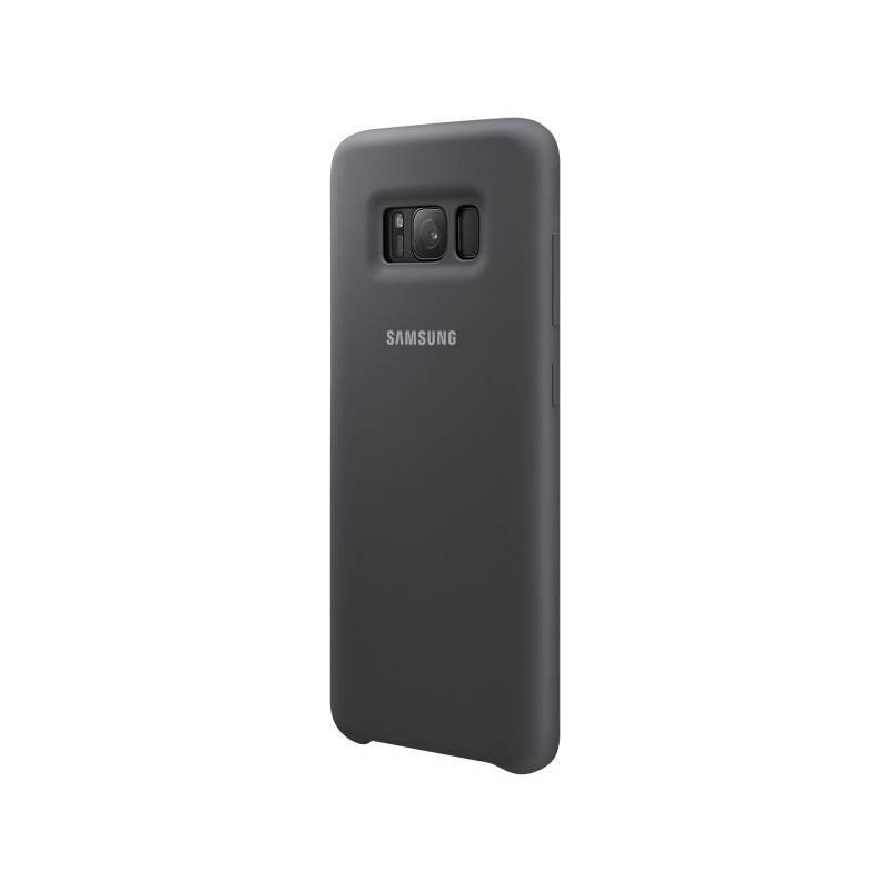 Kryt na mobil Samsung Silicone Cover pro Galaxy S8+ - dark grey (EF-PG955TSEGWW) sivý