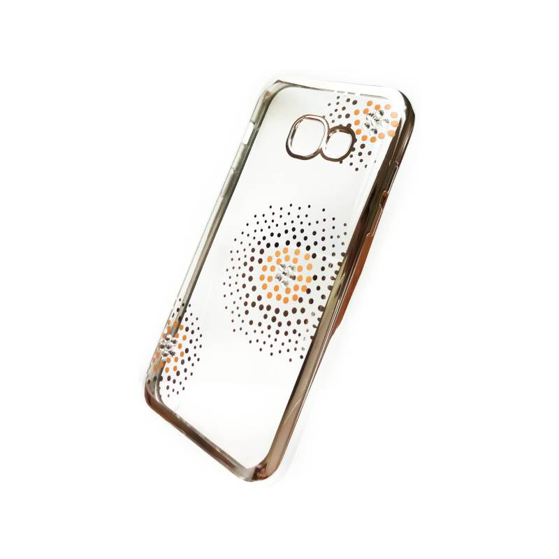 Kryt na mobil Beeyo Flower Dots pro Samsung Galaxy A3 (2017) (BEASAGAA32017TPUFLSI) strieborný