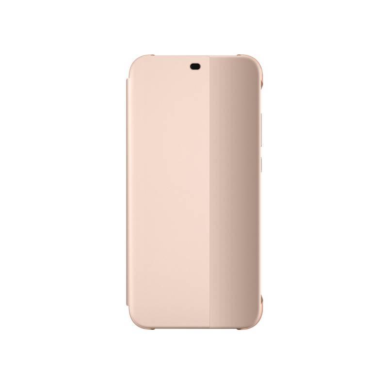 Pouzdro na mobil flipové Huawei Original Folio pro P20 Lite (51992315) růžové
