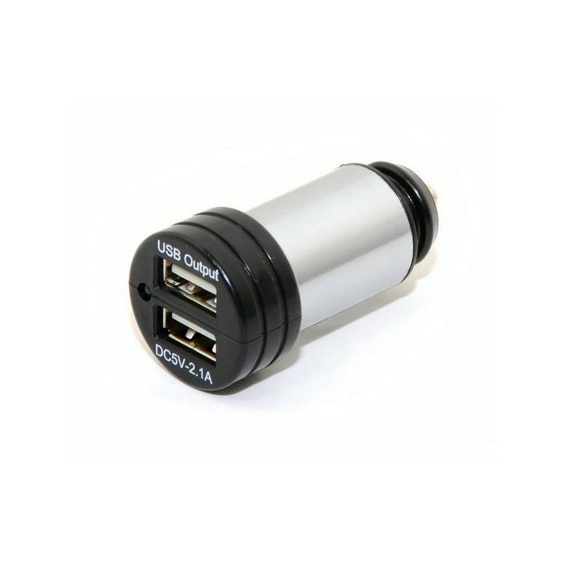 Adaptér do auta Compass USB 12-24V 5V/2100mA E homologace
