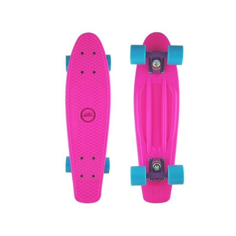 Penny board Nils Extreme Extreme ružový + Reflexní sada 2 SportTeam (pásek, přívěsek, samolepky) - zelené v hodnote 2.80 €