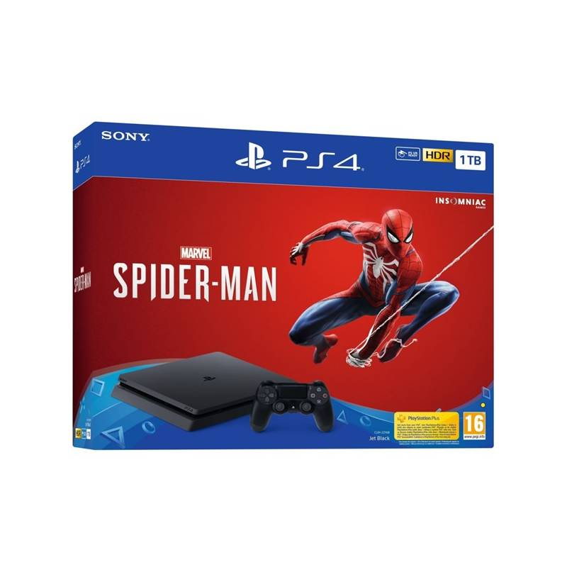 Herná konzola Sony PlayStation 4 SLIM 1TB + hra Spider-Man (PS719733218) čierny Hra Sony PlayStation 4 God of War (zdarma)Hra Sony PlayStation 4 Gran Turismo Sport (zdarma)