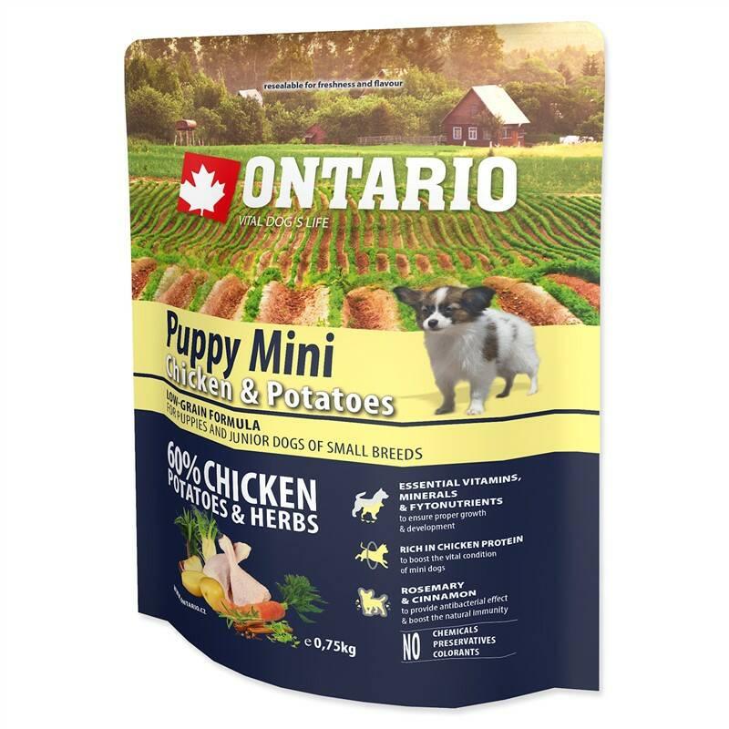 Granuly Ontario Puppy Mini Chicken & Potatoes 0,75kg