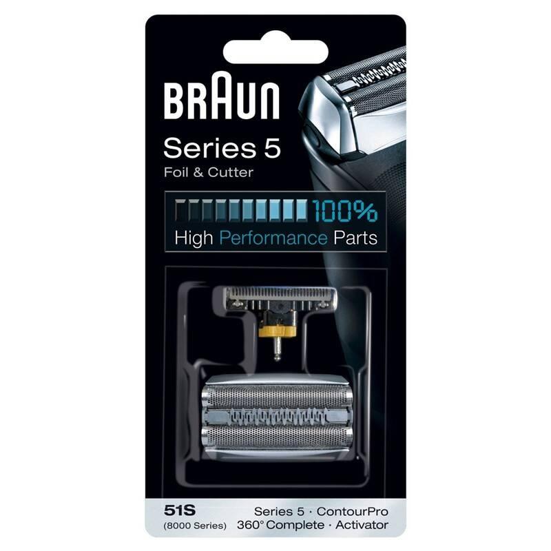 Príslušenstvo pre holiace strojčeky Braun CombiPack Series5 - 51S strieborné + Doprava zadarmo