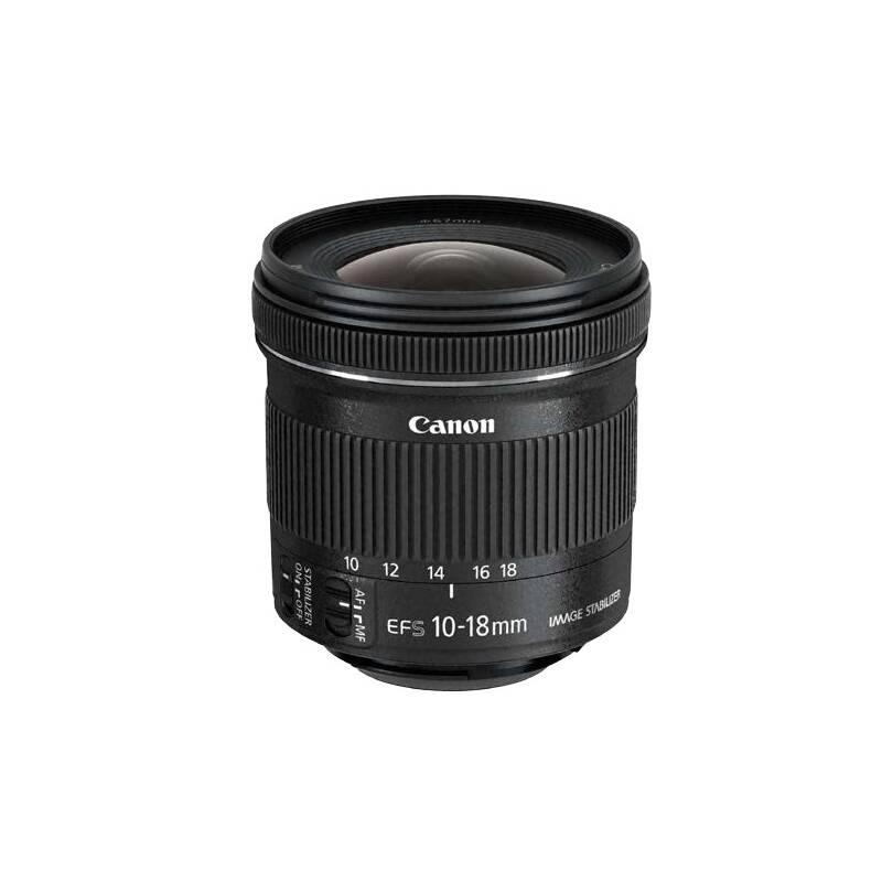 Objektív Canon EF-S 10-18 mm f/4.5-5.6 IS STM + EW73C + LC kit (9519B009) čierny