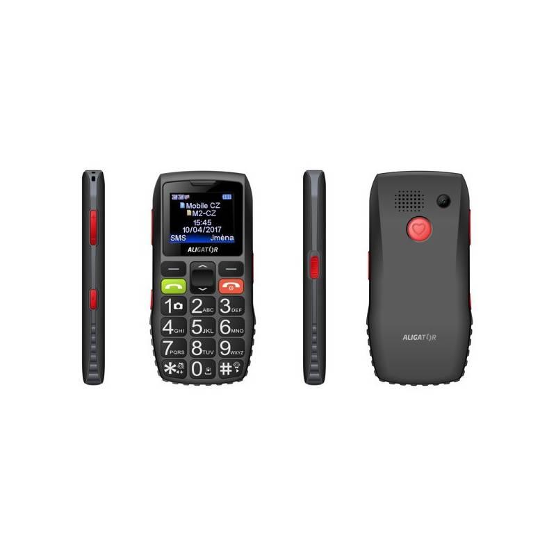 Mobilný telefón Aligator A440 Senior (A440BG) čierny/sivý