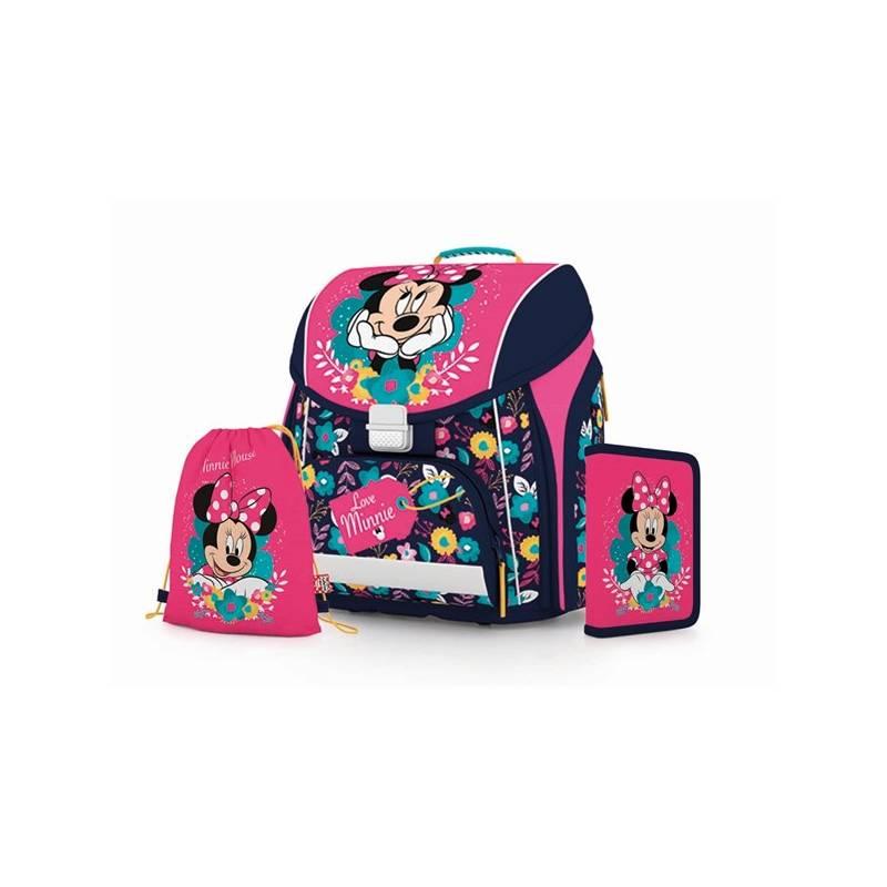 Školský set P + P Karton PREMIUM Minnie Mouse Sáček na přezůvky P + P Karton OXY Neon Dark Blue (zdarma)