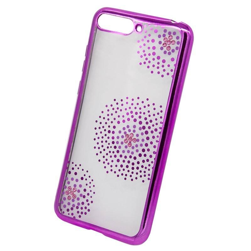 Kryt na mobil Beeyo Flower Dots na Honor 7A (BEAHUHO7AFDPI) ružový