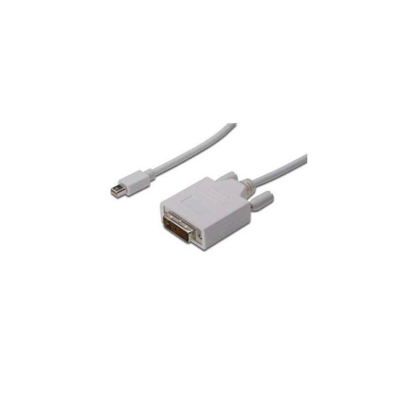 Kábel Digitus miniDisplayPort - DVI(24+1), 3m (AK-340305-030-W) biely