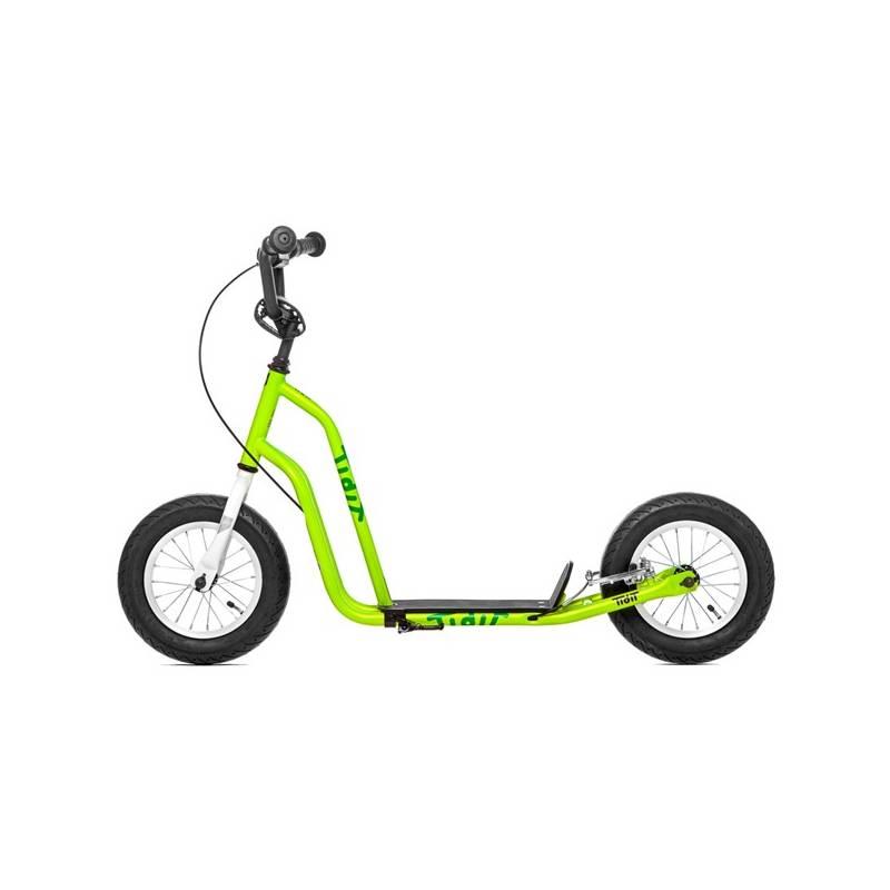 """Kolobežka Yedoo Basic Tidit 12"""" zelená + Reflexní sada 2 SportTeam (pásek, přívěsek, samolepky) - zelené v hodnote 2.80 € + Doprava zadarmo"""