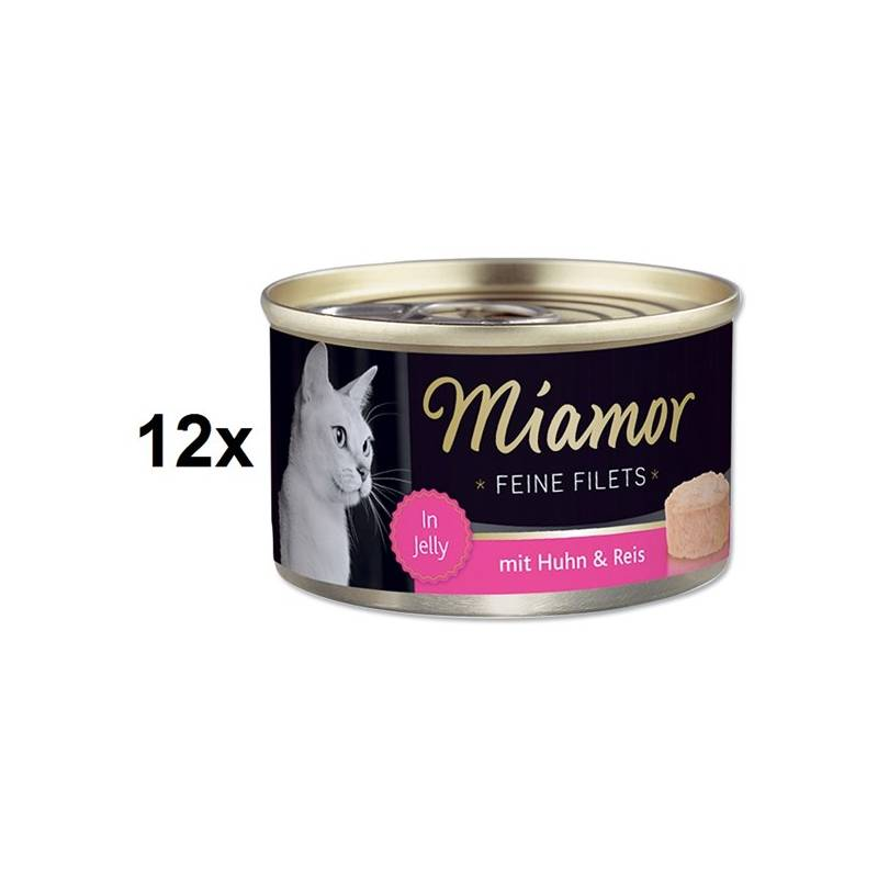 Konzerva Miamor Filet kuře + rýže v želé 12 x 100g