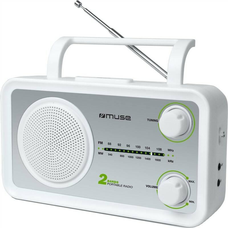 Radiopřijímač MUSE M-06SW stříbrný/bílý