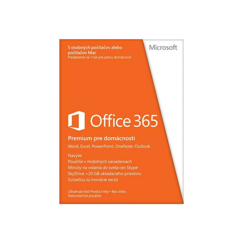 Software Microsoft Office 365 Home Premium 32-bit/x64 SK (6GQ-00181)