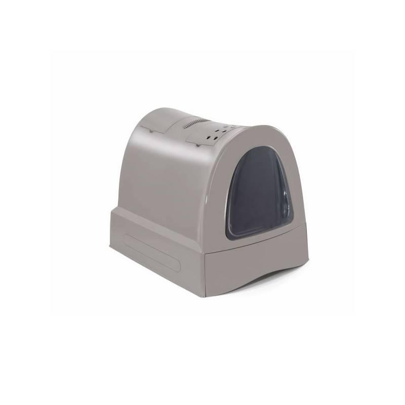 Krytý mačací záchod Argi s výsuvnou zásuvkou pre podstielku 40 x 56 x 42,5 cm - šedá