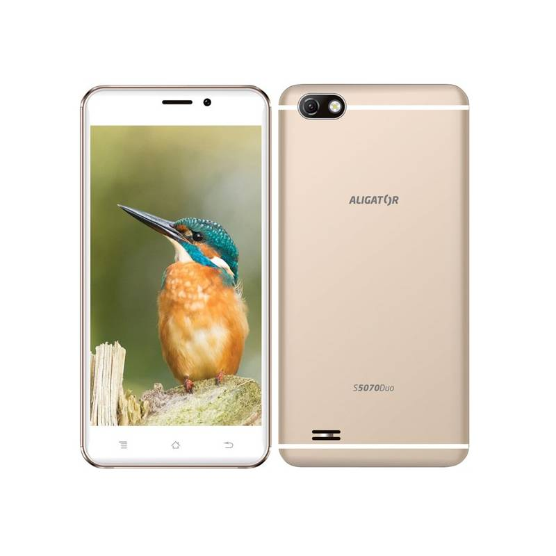 Mobilný telefón Aligator S5070 Dual SIM (AS5070GD) zlatý