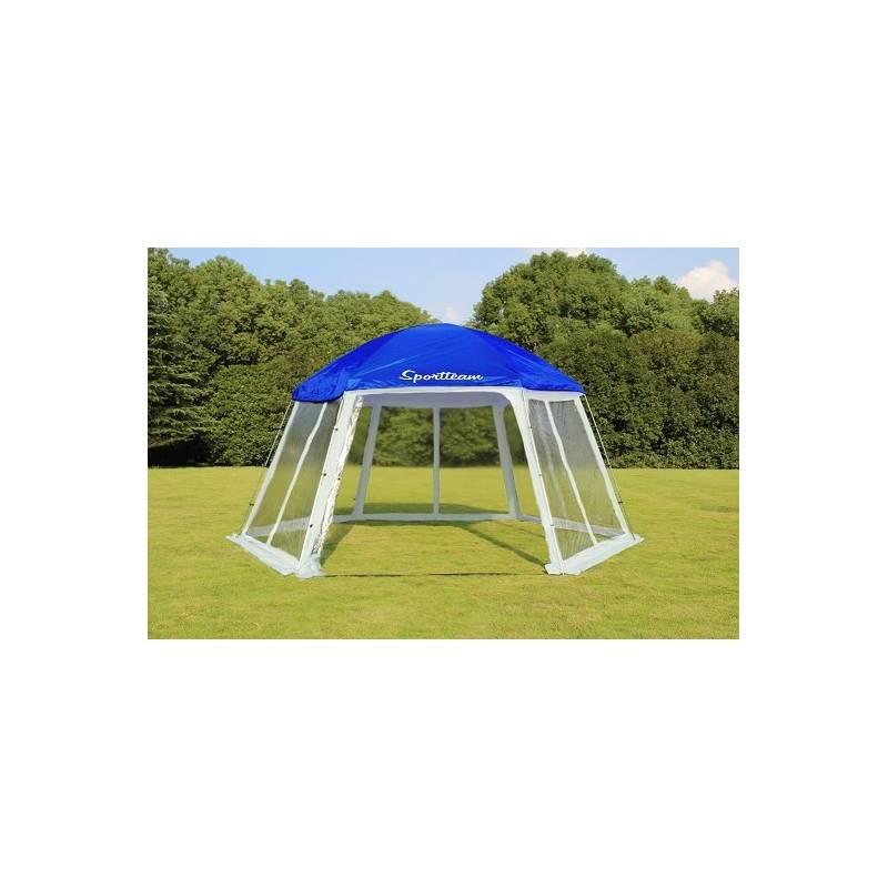 Zastrešenie bazéna SportTeam 500 x 433 x 250 cm biele/modré + Doprava zadarmo