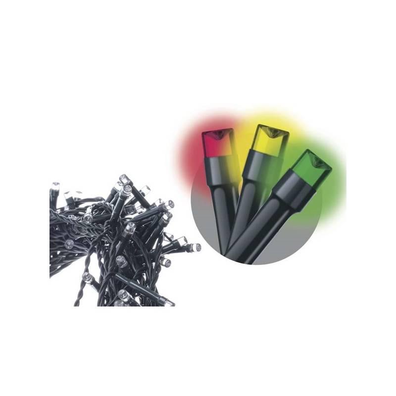 Vianočné osvetlenie EMOS 50 LED, 2,5m, řetěz, multicolor (1534210030)