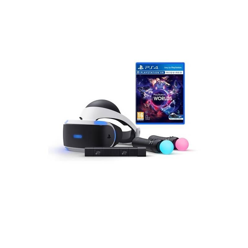 a6082cb57 Okuliare pre virtuálnu realitu Sony PlayStation VR + Kamera + MOVE Twin  Pack + VR WORLDS (PS719880561)