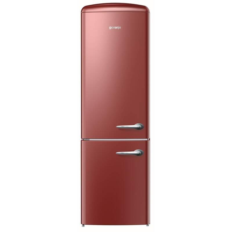 Kombinácia chladničky s mrazničkou Gorenje Retro ORK193R-L + Doprava zadarmo
