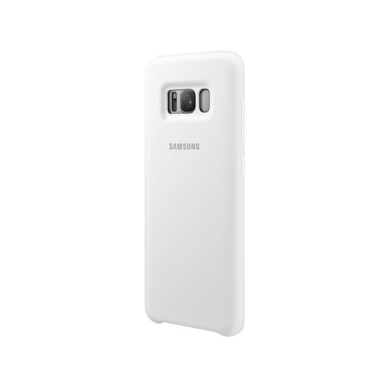 Kryt na mobil Samsung Silicon Cover pro Galaxy S8 (EF-PG950T) (EF-PG950TWEGWW) biely