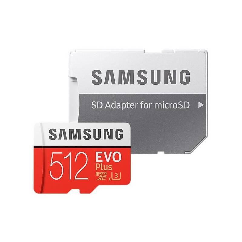 Pamäťová karta Samsung Micro SDXC EVO+ 512GB Class 10 UHS-3 (R100/W90) + SD adaptér (MB-MC512HA/EU) + Doprava zadarmo