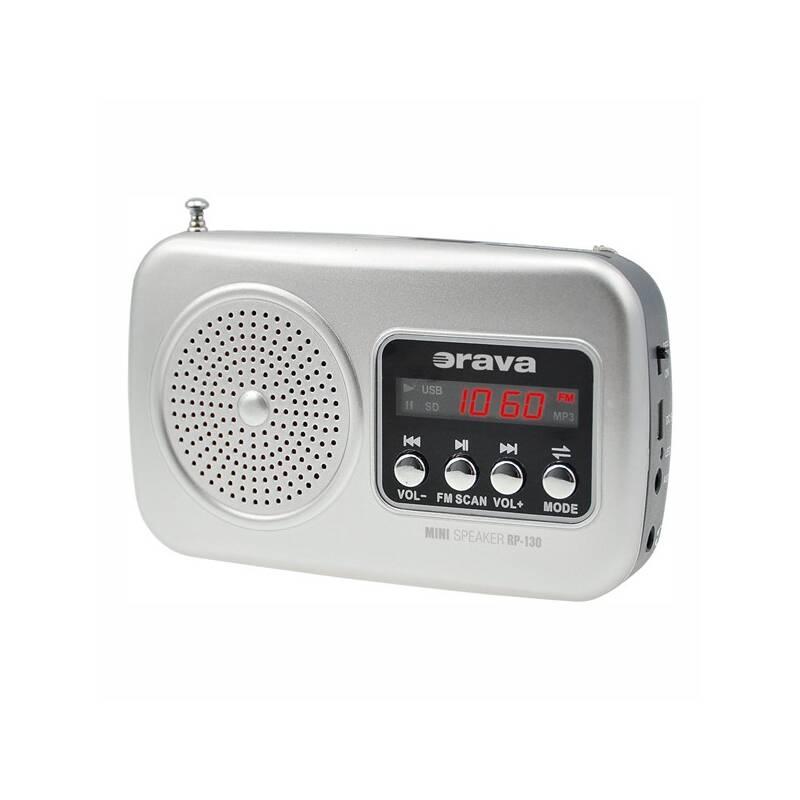 Radiopřijímač Orava RP-130 šedý
