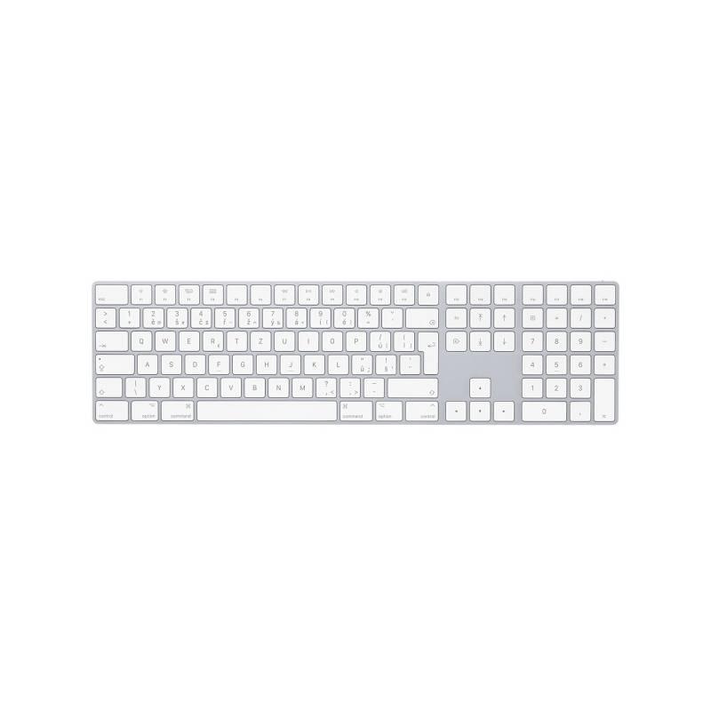 Klávesnica Apple Magic s numerickou klávesnicí - Czech (mq052cz/a) biela