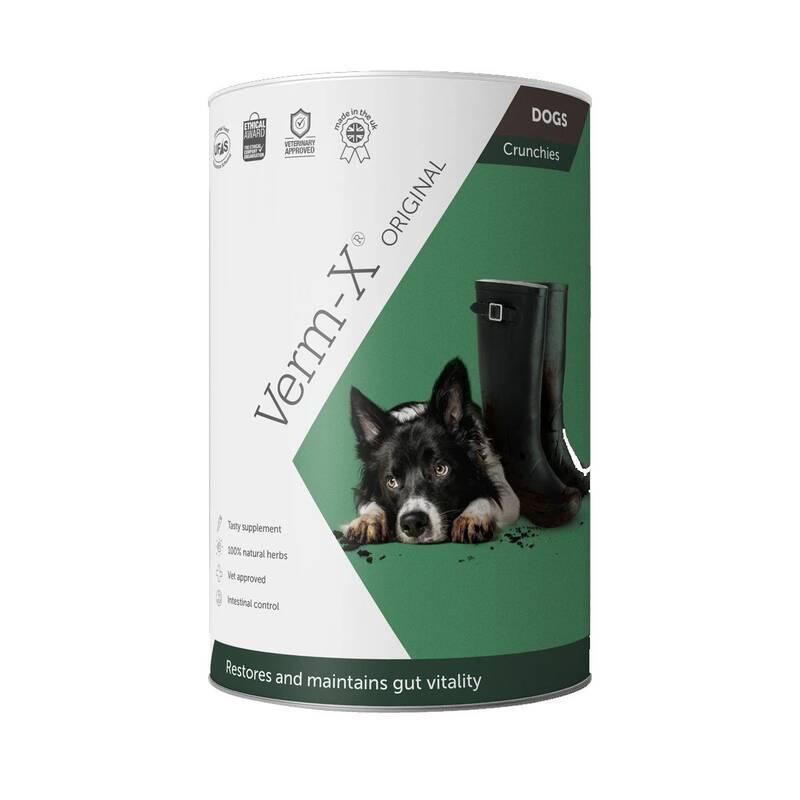 Krmivo Verm-X Prírodné granuly proti črevným parazitom pre psy 100 g