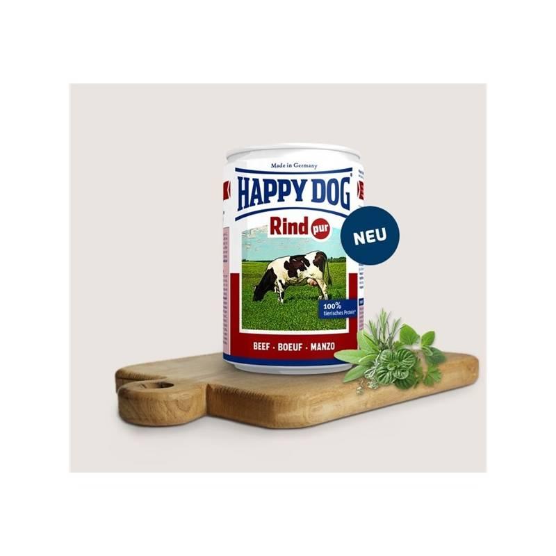 Konzerva HAPPY DOG Rind Pur - 100% hovězí maso 800 g