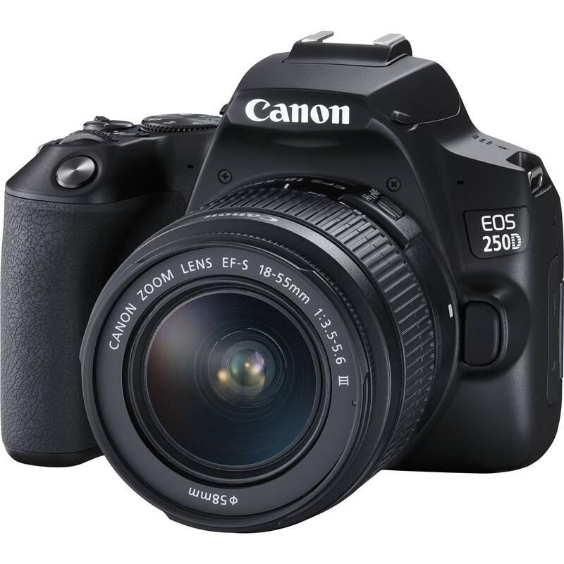 Digitálny fotoaparát Canon EOS 250D + 18-55 DC III (3454C003) čierny + Doprava zadarmo